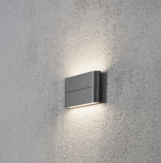 Vägglykta Chieri 2x6W LED mörkgrå-14432
