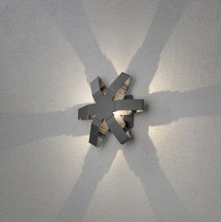 Vägglykta Pescara LED stjärna mörkgrå-14448