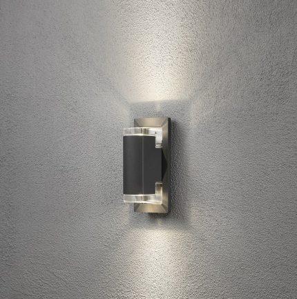 Vägglykta Potenza GU10 mörkgrå-12344