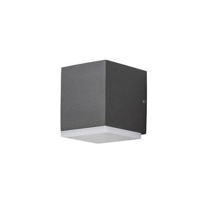 Vägglykta Monza 6W LED mörkgrå-0