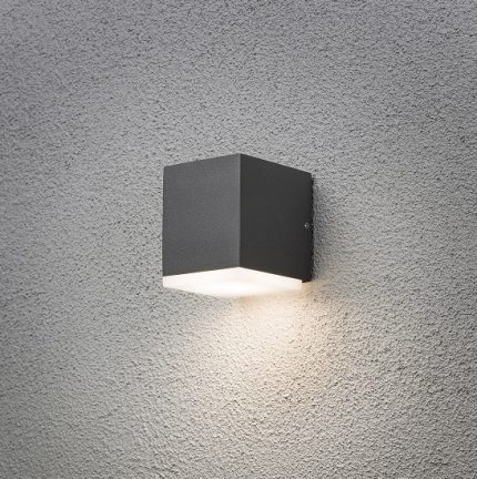 Vägglykta Monza 6W LED mörkgrå-15607