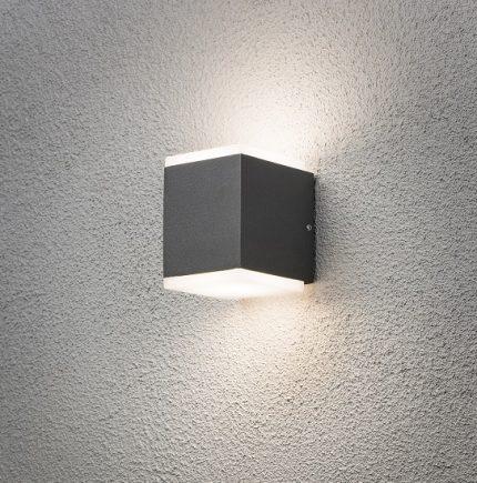 Vägglykta Monza LED mörkgrå-12348