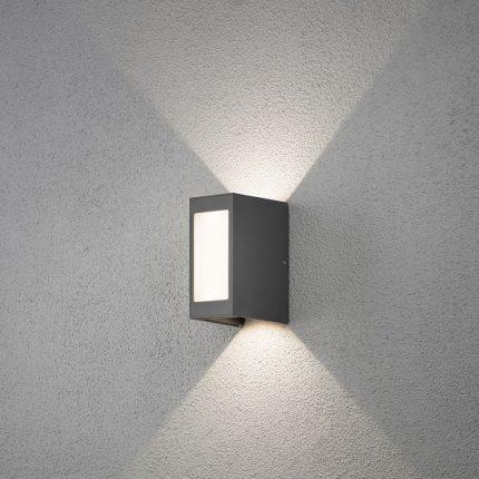 Vägglykta Crremona LED mörkgrå-12352