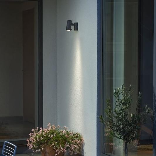 Vägglykta Adria LED mörkgrå-15605