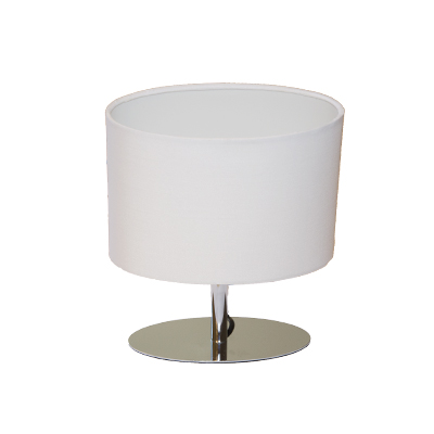 Bordslampa Alvar krom/vit inkl skärm -0