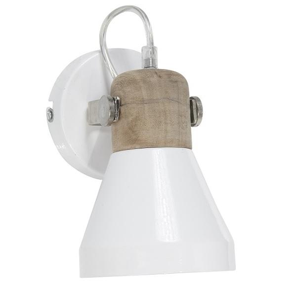Vägglampa/Spotlight Ashby vit 20cm-0