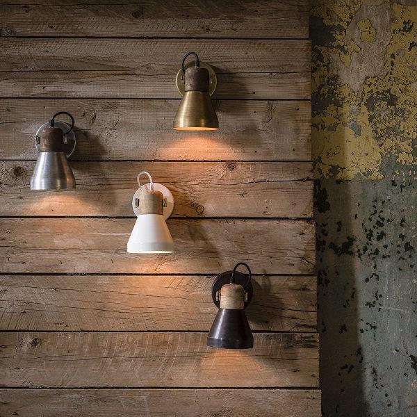 Vägglampa/Spotlight Ashby brun 20cm-12001