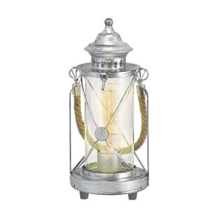 Bordslampa lykta Bradford silver antik-0
