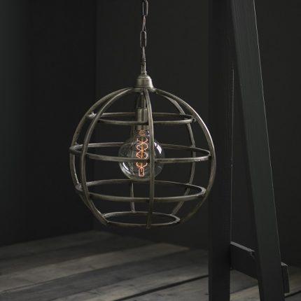 Taklampa Bristol råsilver 30cm-11969