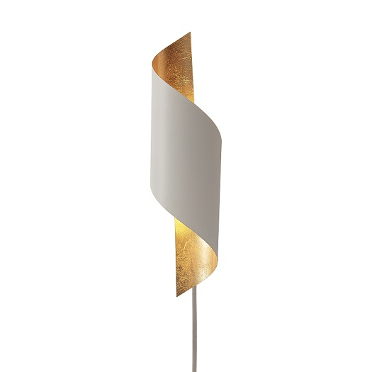 Vägglampa Chin sandvit -0