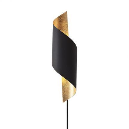 Vägglampa Chin sandsvart -0