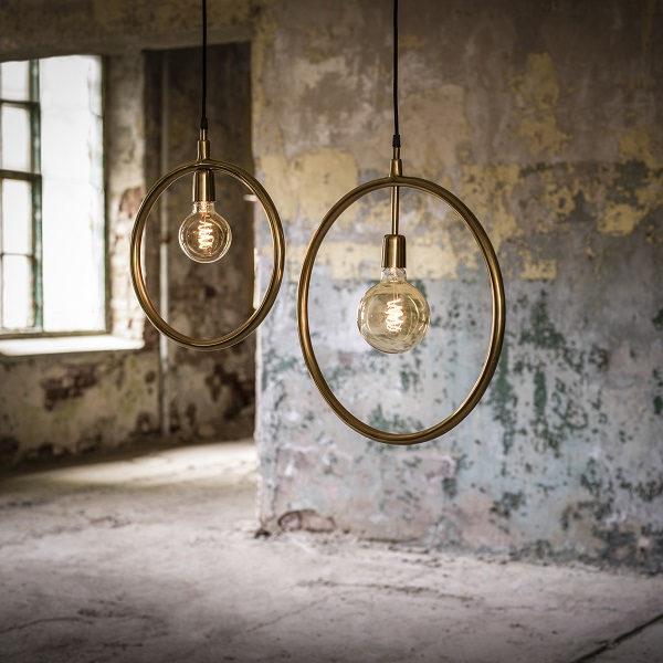Circle taklampa Guld 35cm-11917
