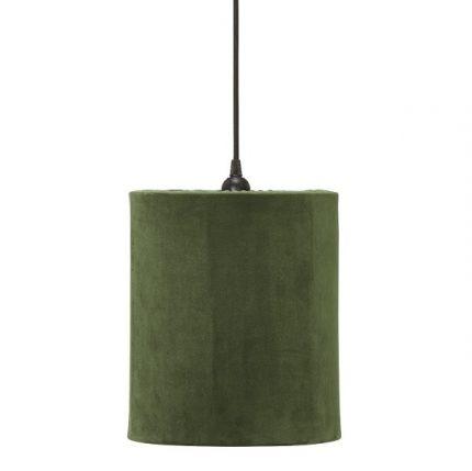 Taklampa Classic Cylinder Sammet Grön 24cm-0