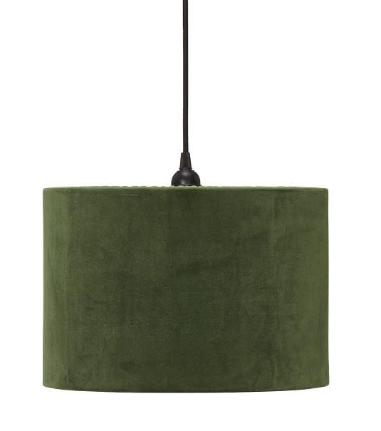 Taklampa Classic Cylinder Sammet Grön 32cm-0