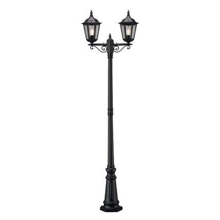 Stolplykta Firenze 2-arm svart E27 ink stolpe-0