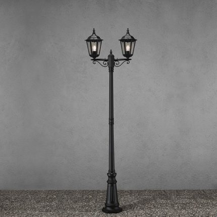 Stolplykta Firenze 2-arm svart E27 ink stolpe-15581