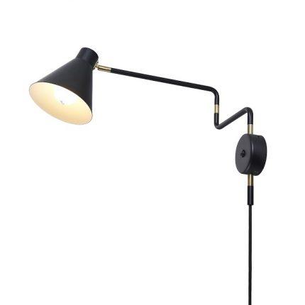 Vägglampa Gir svart matt-0