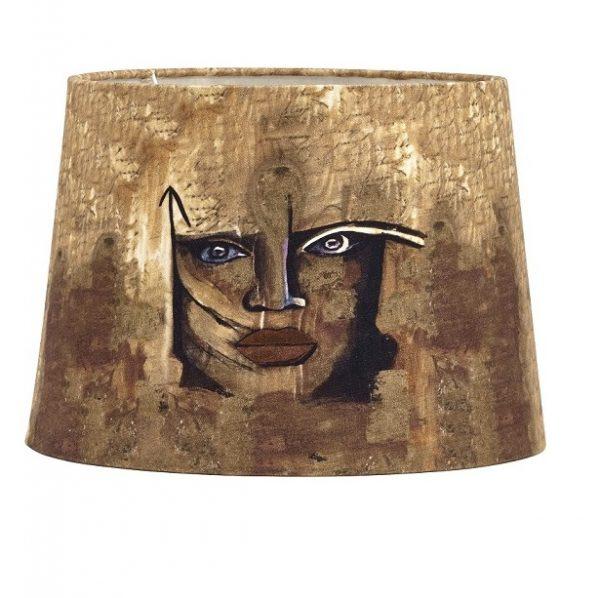 Lampfot Carolina Gynning Med skärm, Guld 65cm-11636
