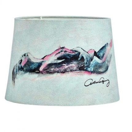 Gynning Lampfot Med skärm, Krom 50cm-11638