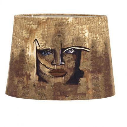 Gynning Lampfot Med skärm, Guld 50cm-11640