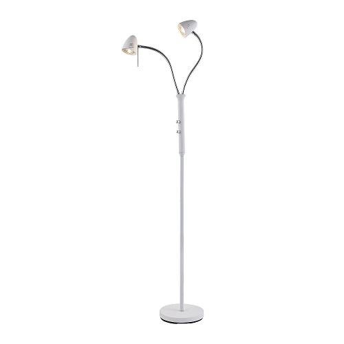 Golvlampa Luna 2-arm vit LED -0