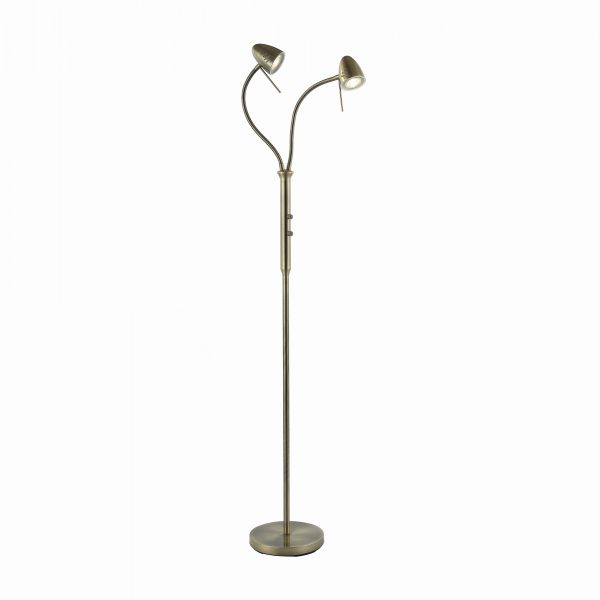 Golvlampa Luna 2-arm oxid LED -0