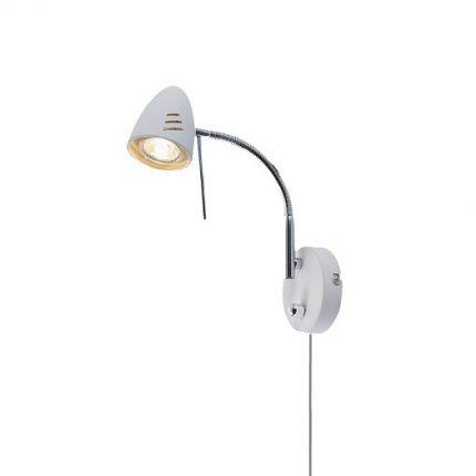 Vägglampa Luna vit LED-0