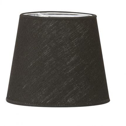 Vägglampa Classic mässing, Inkl skärm Mia 14cm svart lin-11626