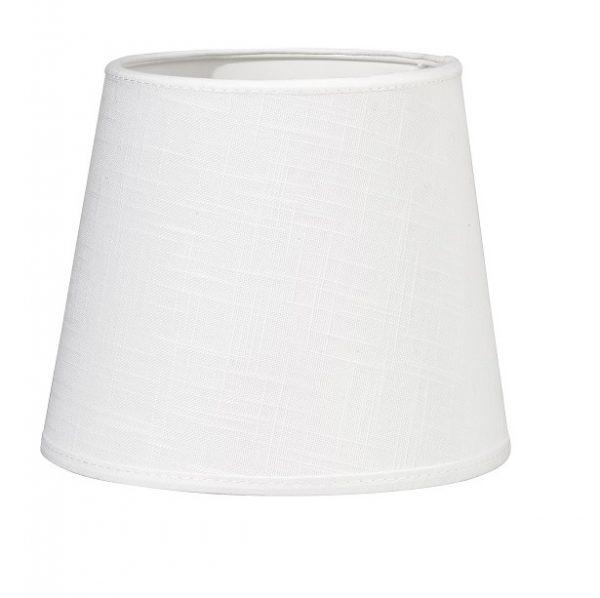 Vägglampa Classic Krom, Inkl skärm Mia 14cm vit lin-11628