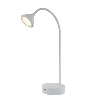 Bordslampa Nero Vit med USB-0