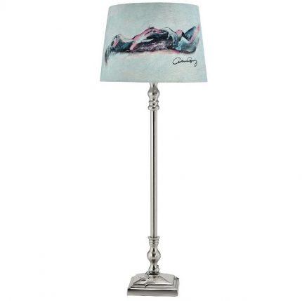 Lampfot Carolina Gynning Med skärm, Krom 65cm-0