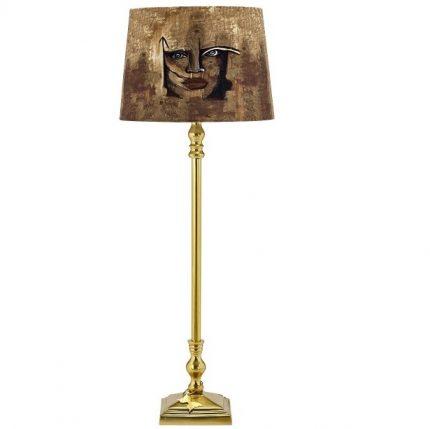 Lampfot Carolina Gynning Med skärm, Guld 65cm-0