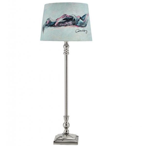 Gynning Lampfot Med skärm, Krom 50cm-0