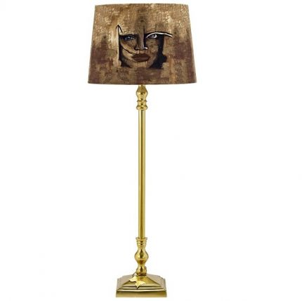 Gynning Lampfot Med skärm, Guld 50cm-0