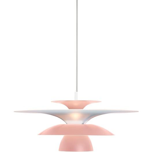 Taklampa Picasso ljusrosa Ø3838 cm LED-0