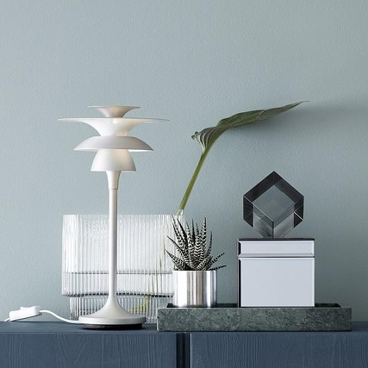 Bordslampa Picasso silveroxid LED-14665