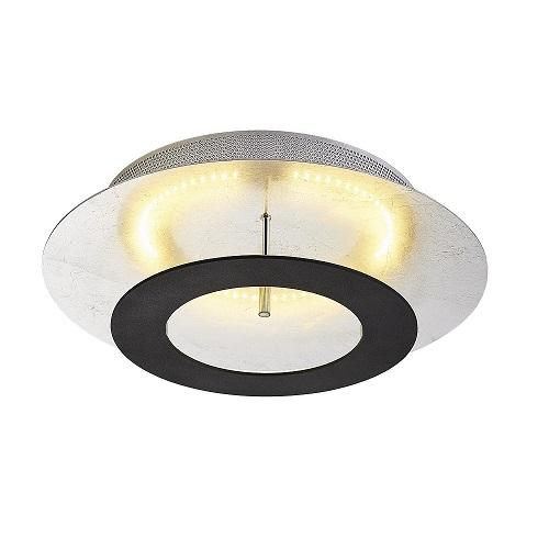 Plafond Saturnus krom svart-0