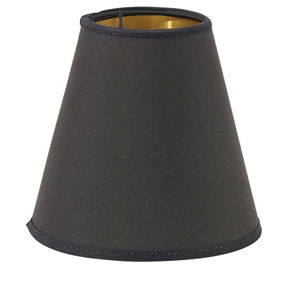 Toppringskärm E14 Lin Svart 15cm-0